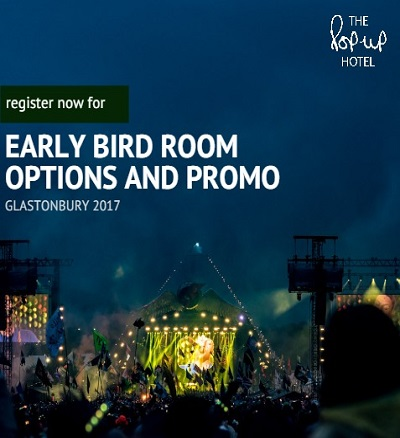 How to get first dibs on a pop-up room for Glastonbury 2017