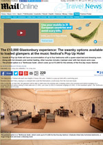 The Glastonbury experience available to glampers at Pop Up Hotel Daily Mail Online